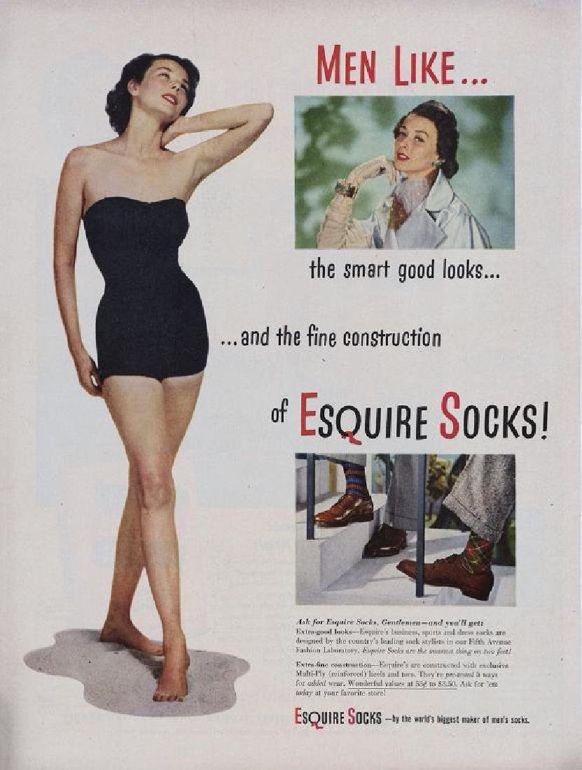 1950's Esquire Socks Advertisement