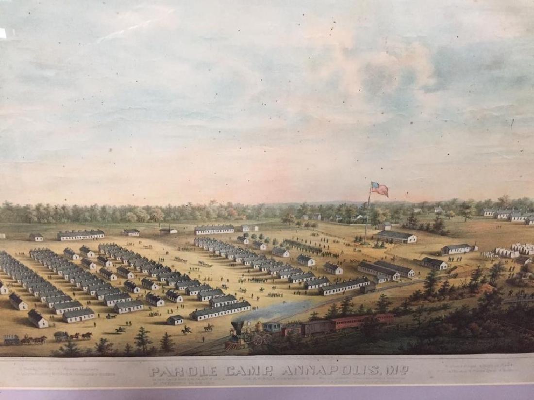 RARE Original1864 Parole Camp Annapolis MD Map