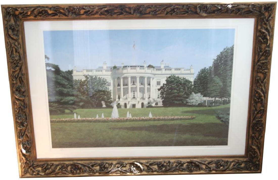 Signed Cromartie, The White House Framed Print
