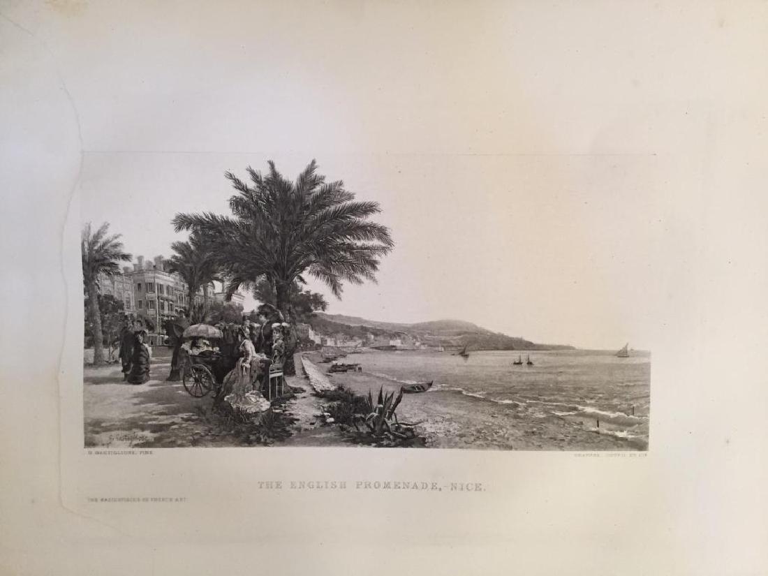 1880's Photogravure, English Promenade, Nice