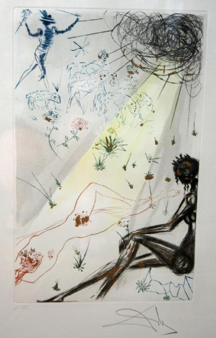 1971 Dali Etching, Song Of Songs - 2