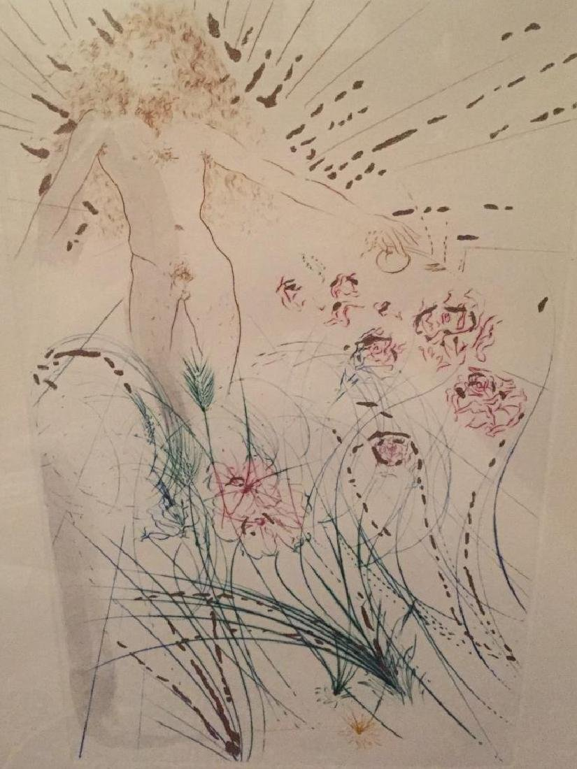 1971 Dali Etching, Song of Songs of Soloman - 2