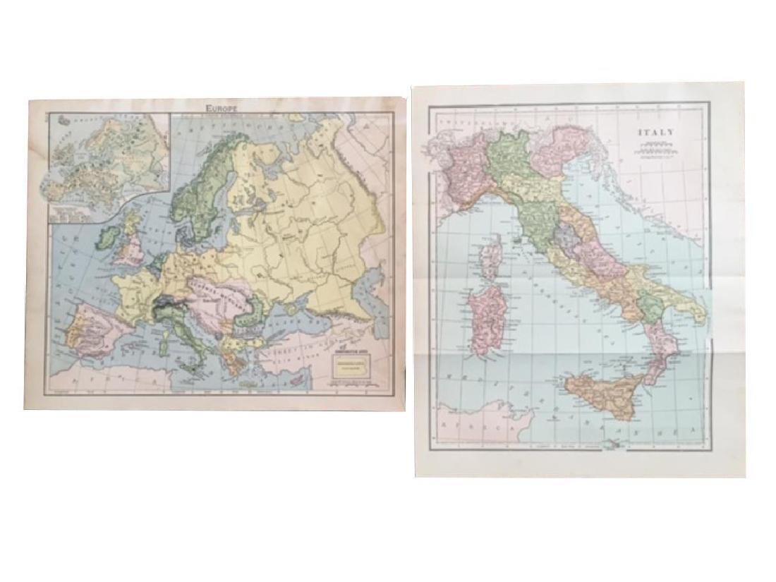Original Antique Maps of Italy & Europe - 2