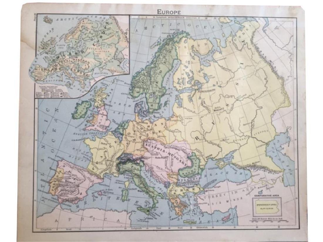 Original Antique Maps of Italy & Europe - 3