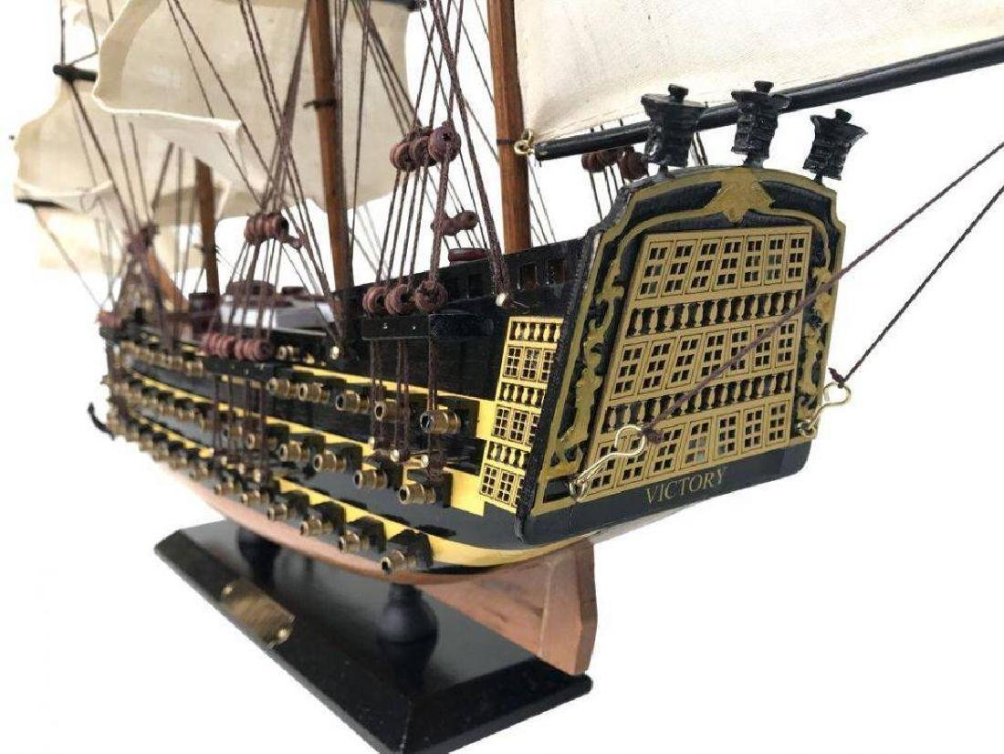 Wooden Hms Victory Tall Model Ship 24'' - 5