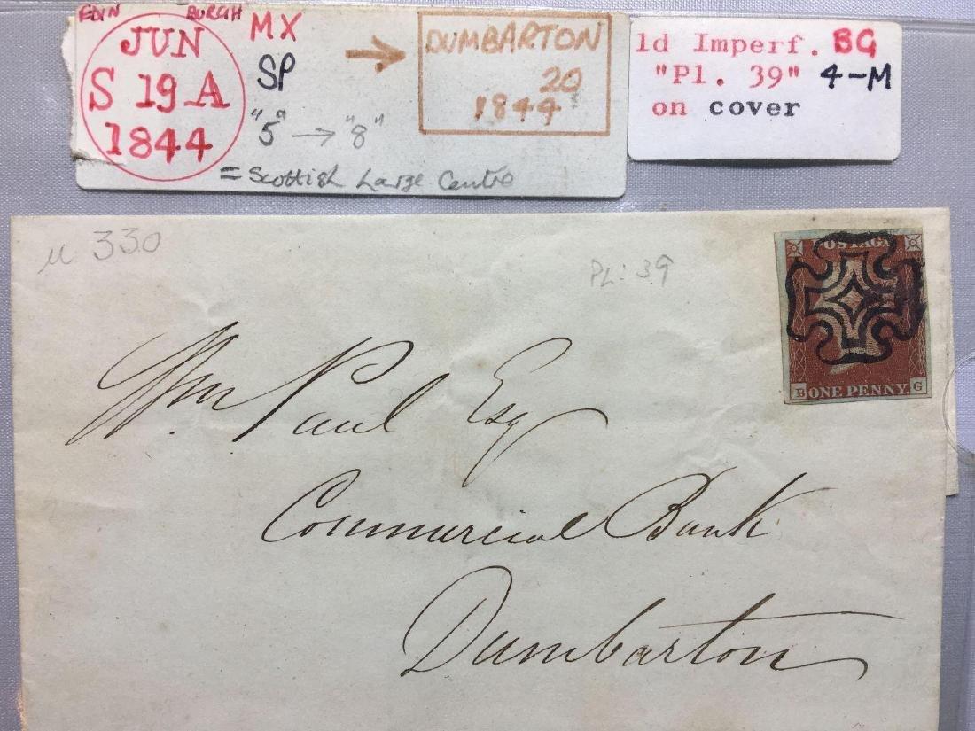 1844 London Original Postmarked Handwritten Envelope