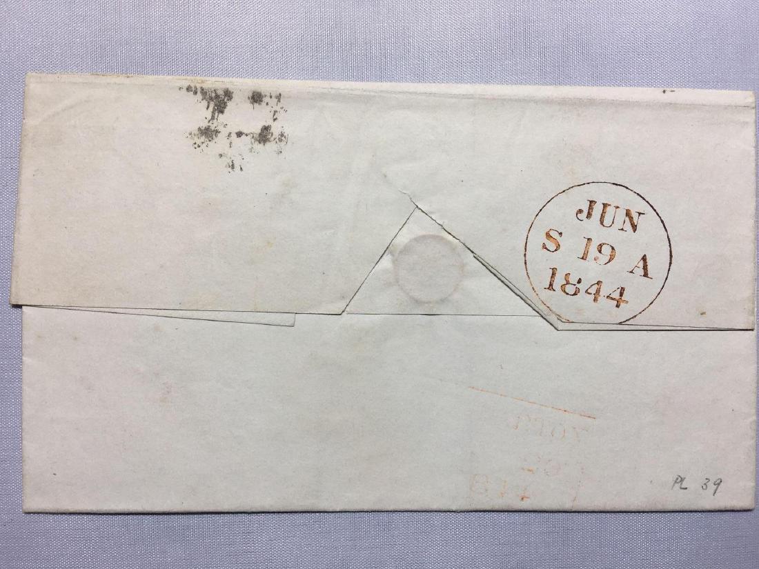 1844 London Original Postmarked Handwritten Envelope - 2
