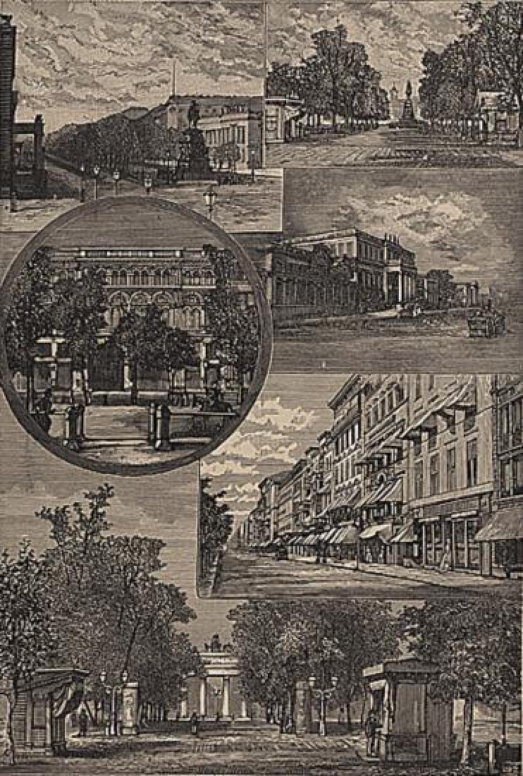 1899 Engraving Print, Views in Berlin