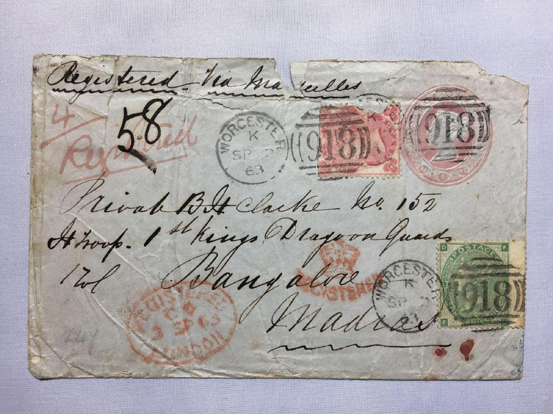 1800s  London Original Postmarked Handwritten Envelope