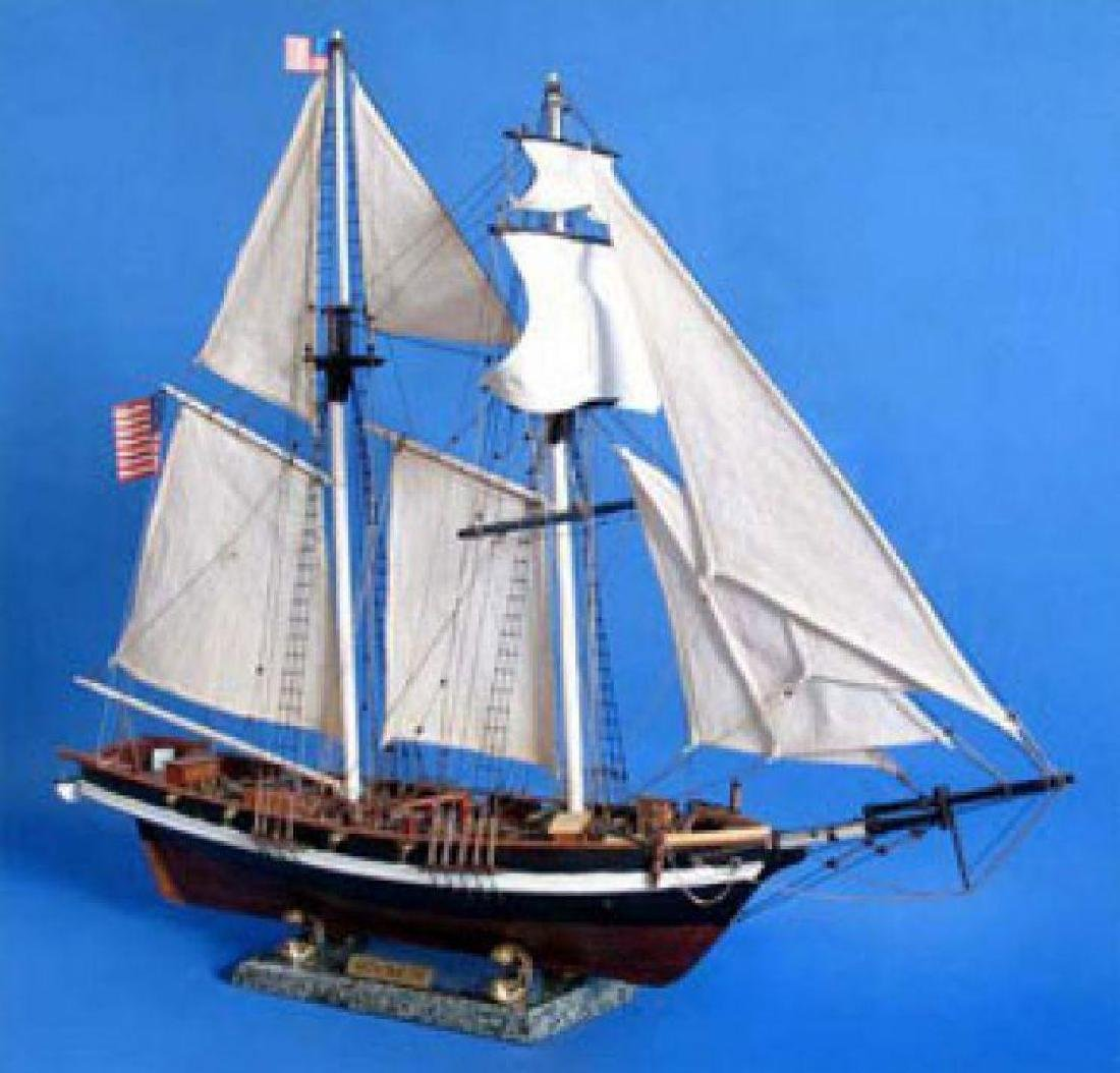 "Wooden Baltimore Clipper Harvey Tall Model Ship 32"" - 3"