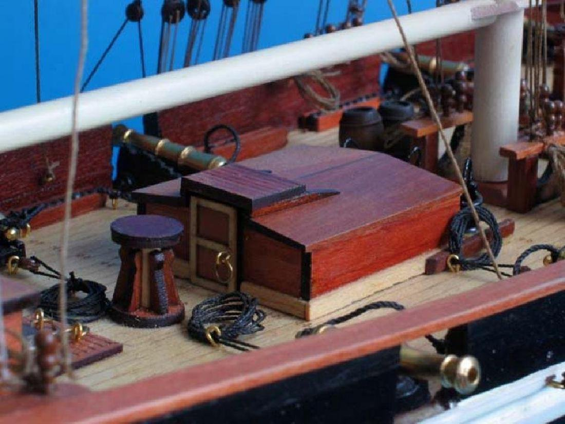 "Wooden Baltimore Clipper Harvey Tall Model Ship 32"" - 8"