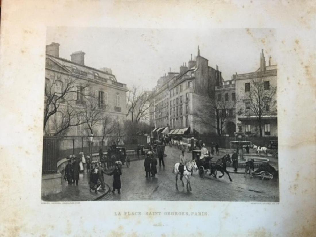 19thc Photogravure Print, Saint Georges, Paris