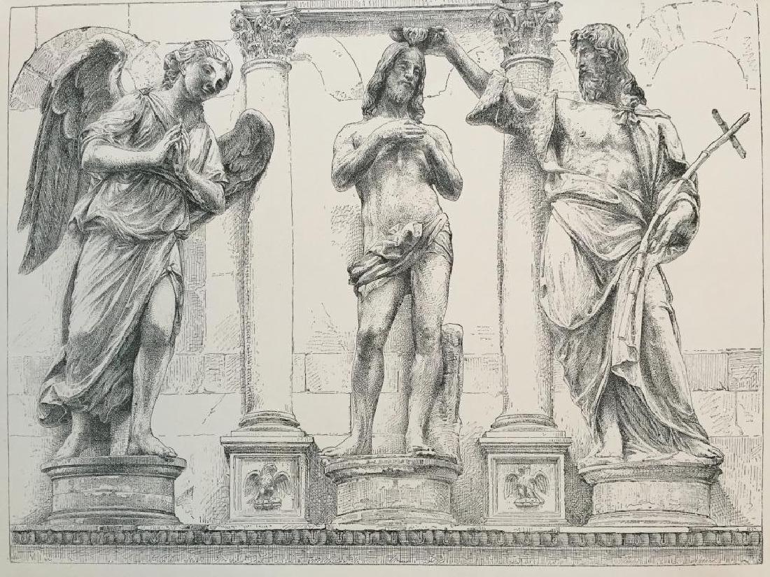 19thc Print, The Baptism Of Jesus