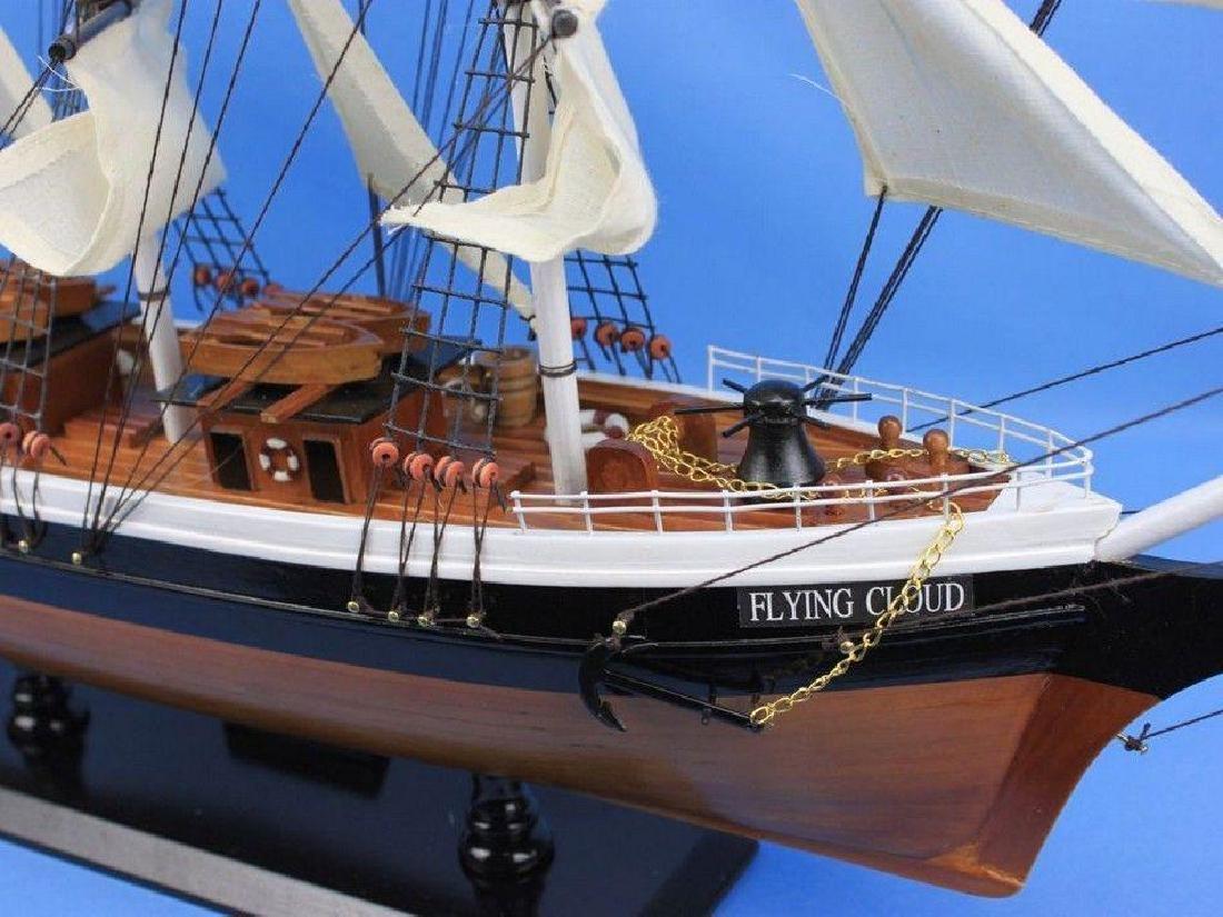 "Wooden Flying Cloud Tall Model Clipper Ship 30"" - 2"