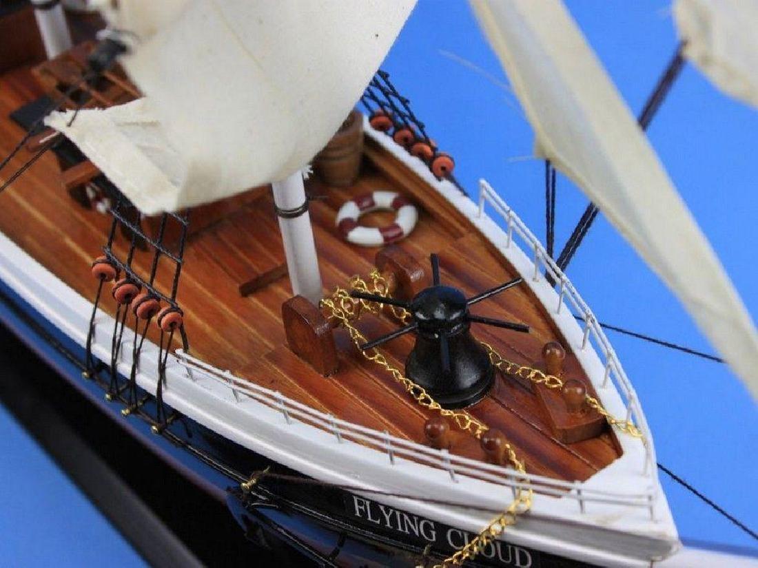 "Wooden Flying Cloud Tall Model Clipper Ship 30"" - 3"