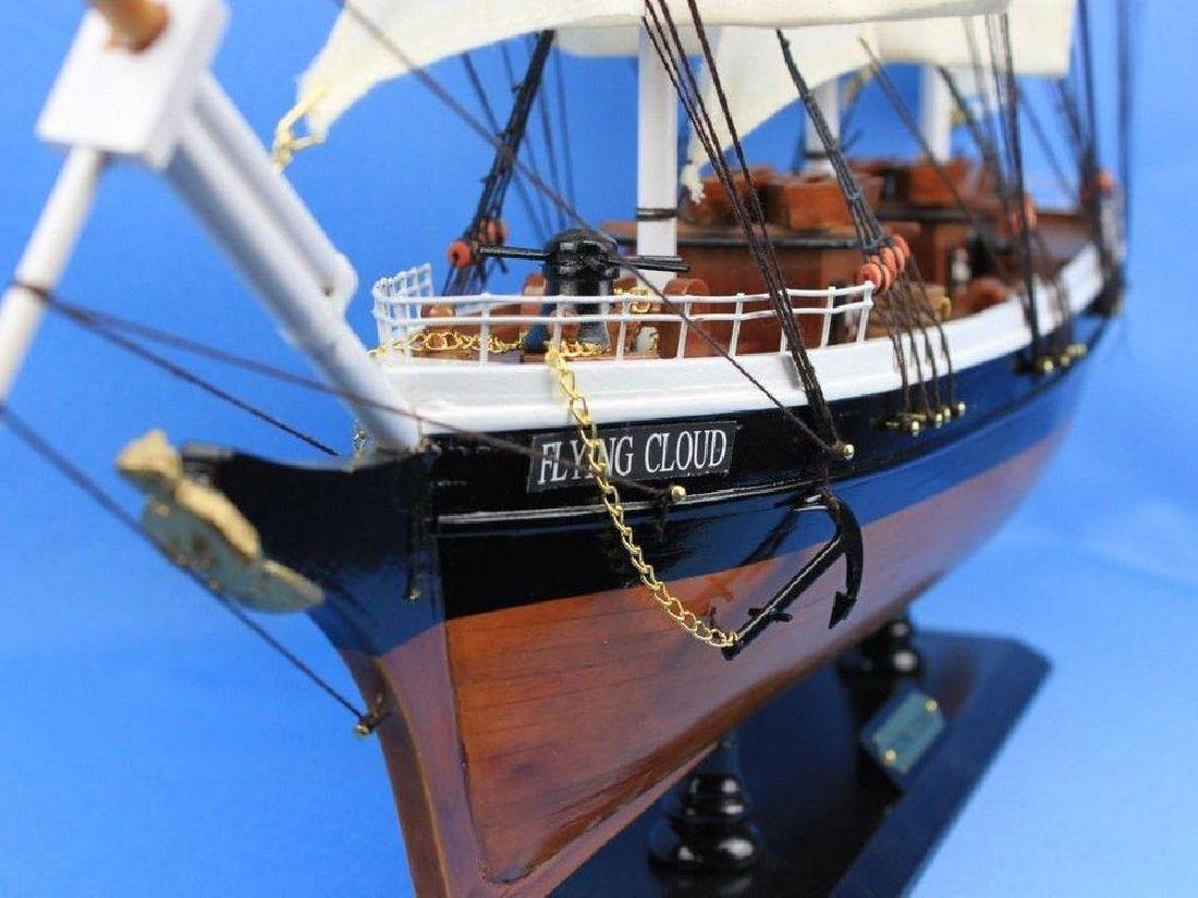 "Wooden Flying Cloud Tall Model Clipper Ship 30"" - 7"