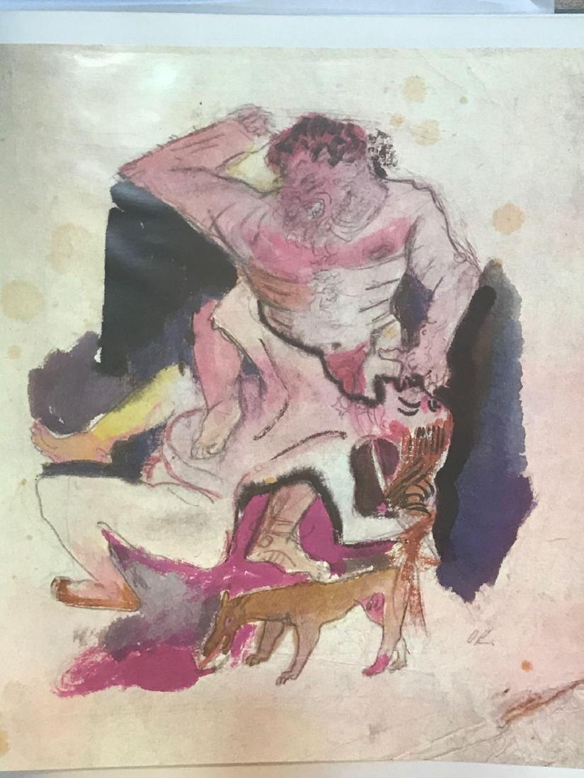 Oskar Kokoschka Vintage Limited Lithograph Postcard