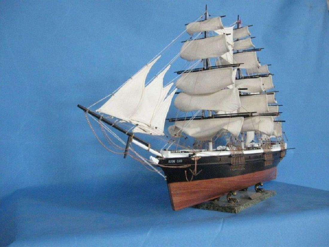 "Flying Cloud 50"" Tall Model Ship Limited - 2"