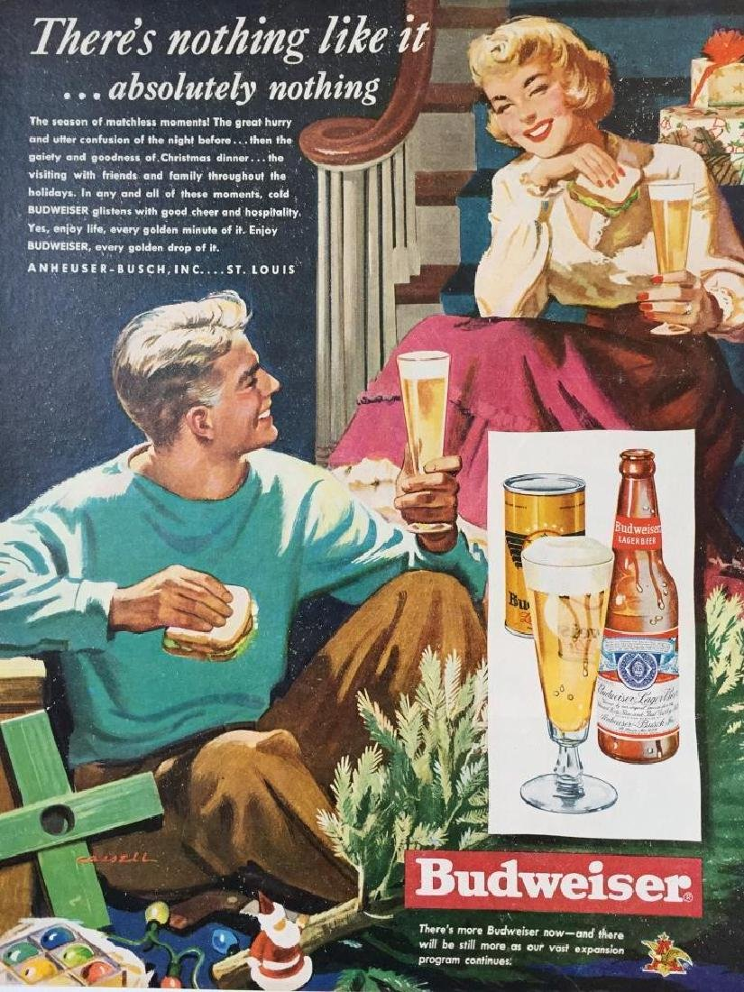 1949 Budweiser Beer Christmas Advertisement