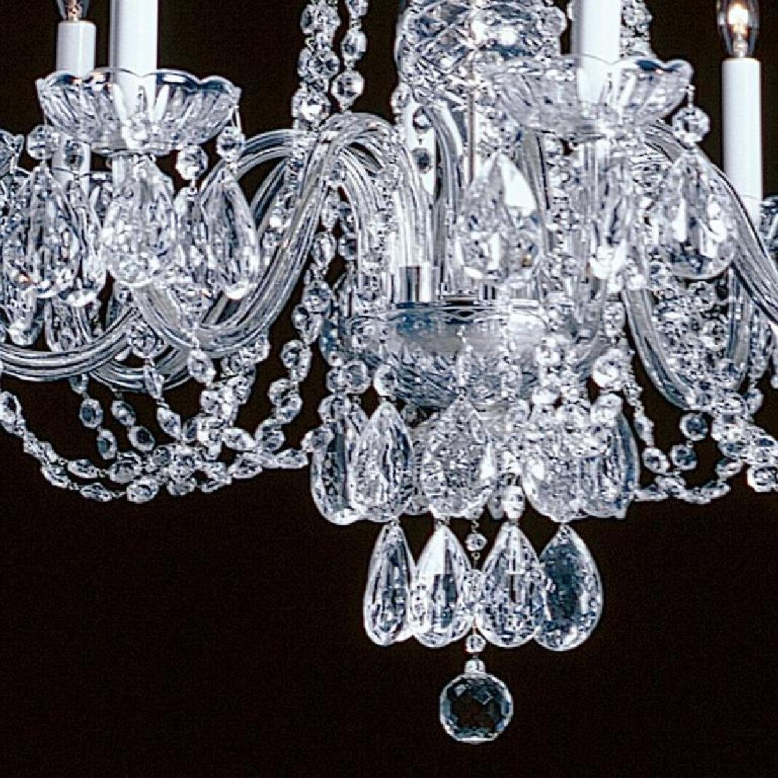 Elegant Crystal & Nickel 8 Light Chandelier - 2