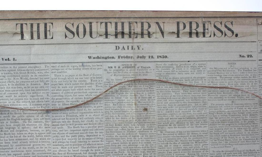 19thc Newspaper Print Train Station Atlanta GA - 3
