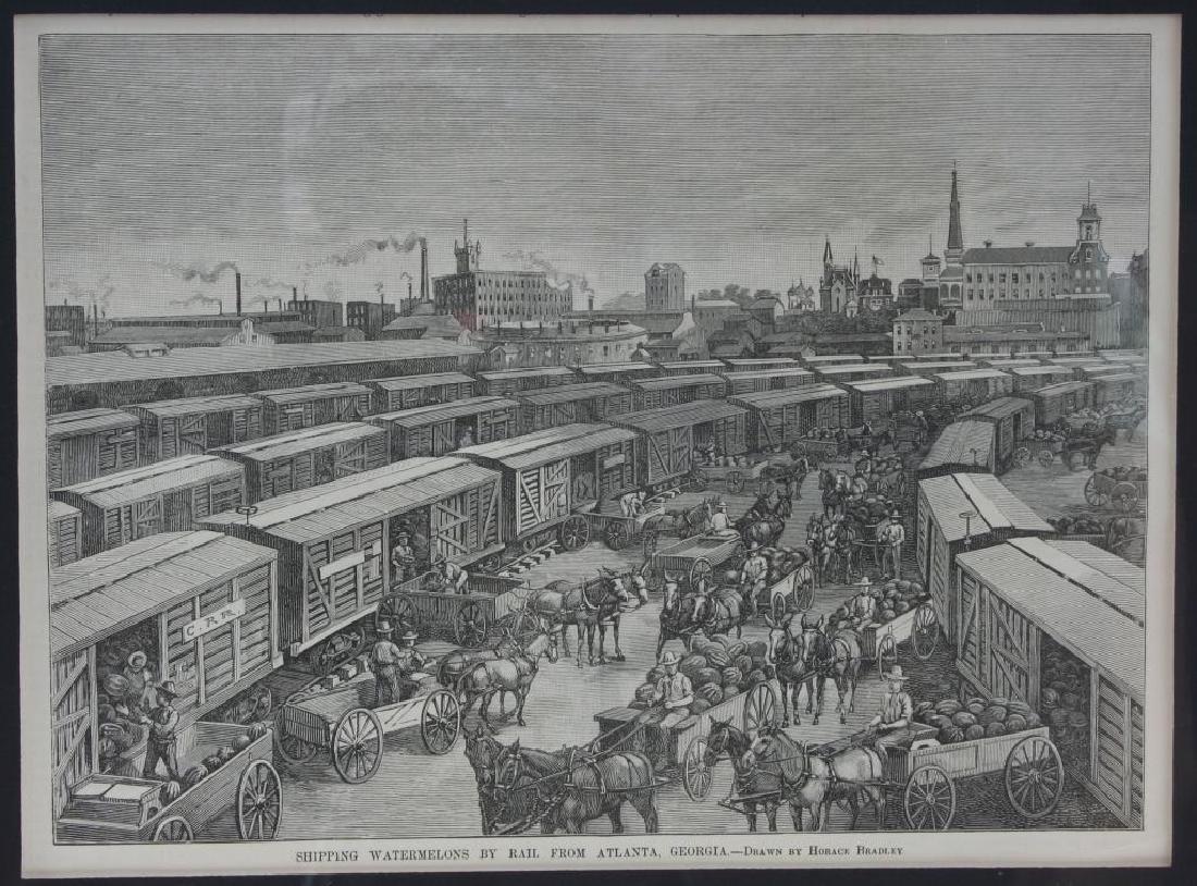 19thc Newspaper Print Train Station Atlanta GA - 4