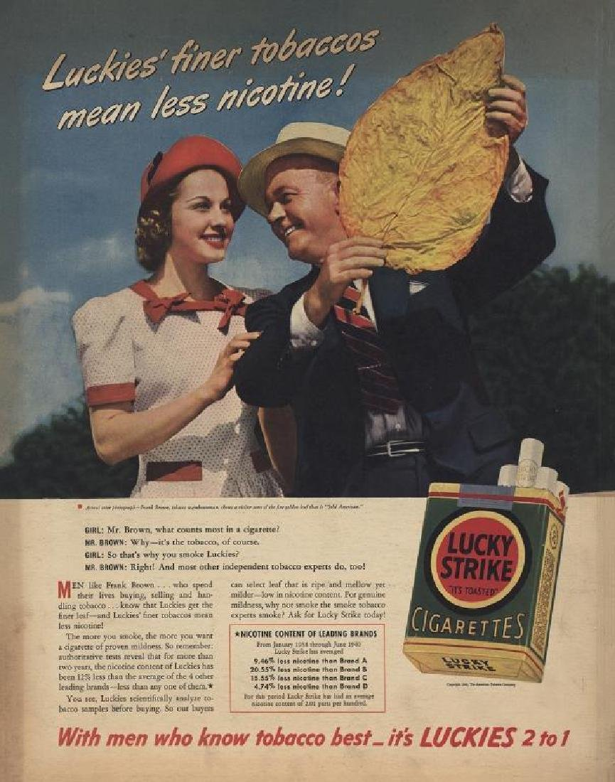 1940 Lucky Strike Cigarettes Magazine Ad