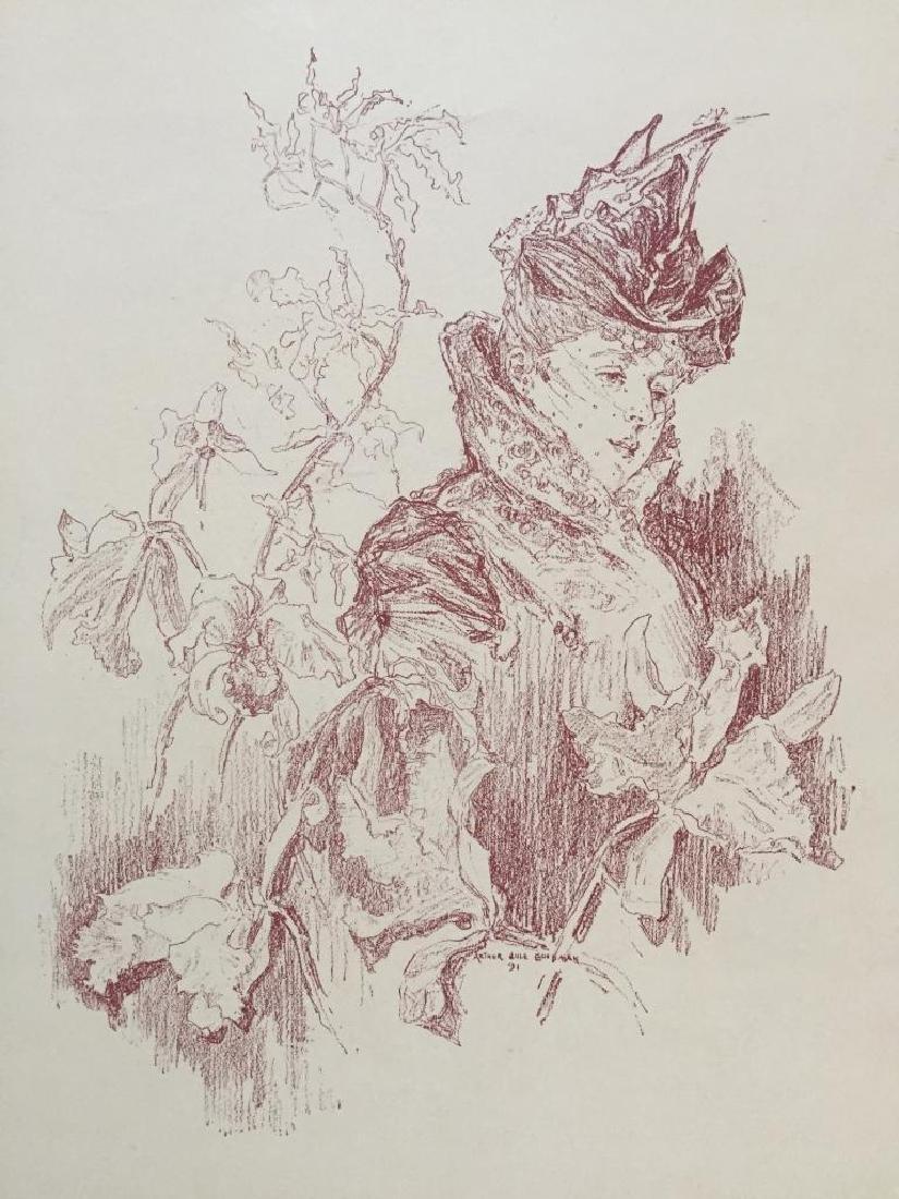 1890's Victorian Lady Print, A Study