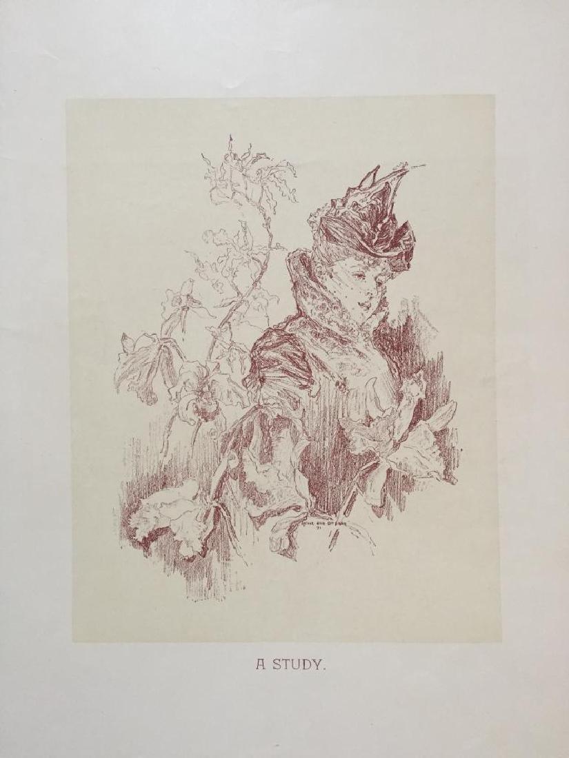 1890's Victorian Lady Print, A Study - 2