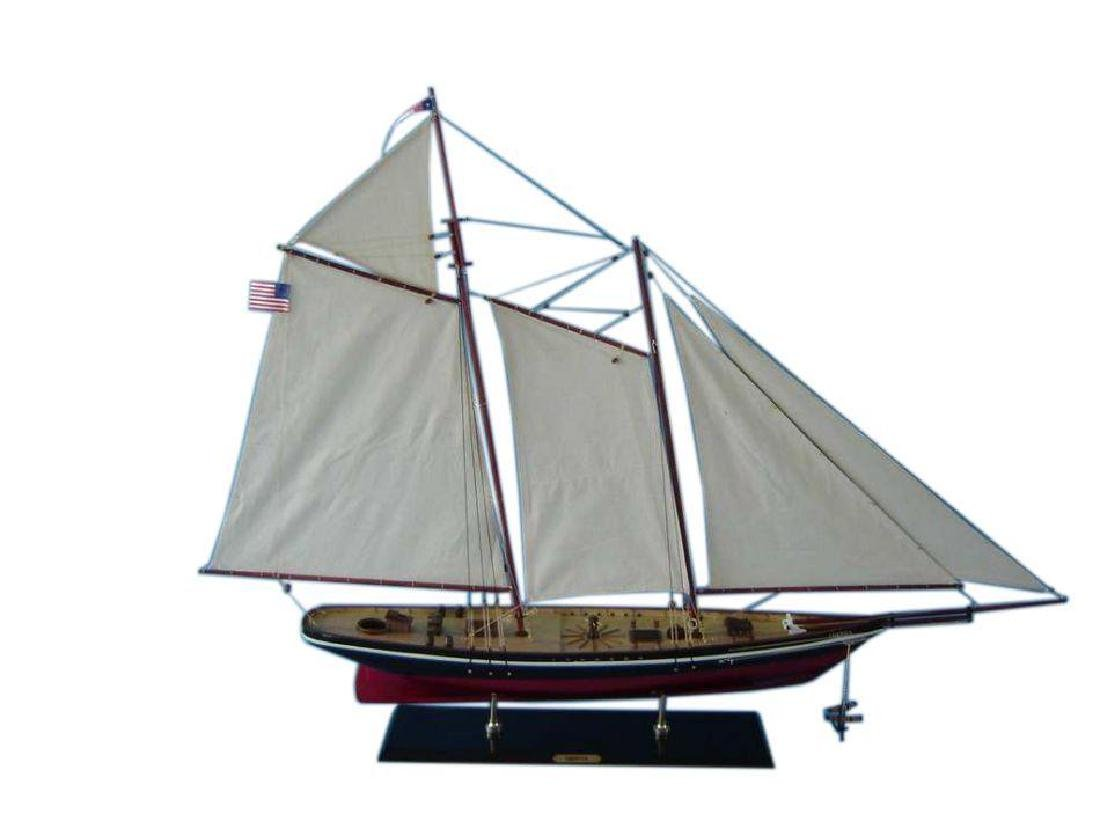 """Wooden America Model Sailboat Decoration 50"""" Limited"""