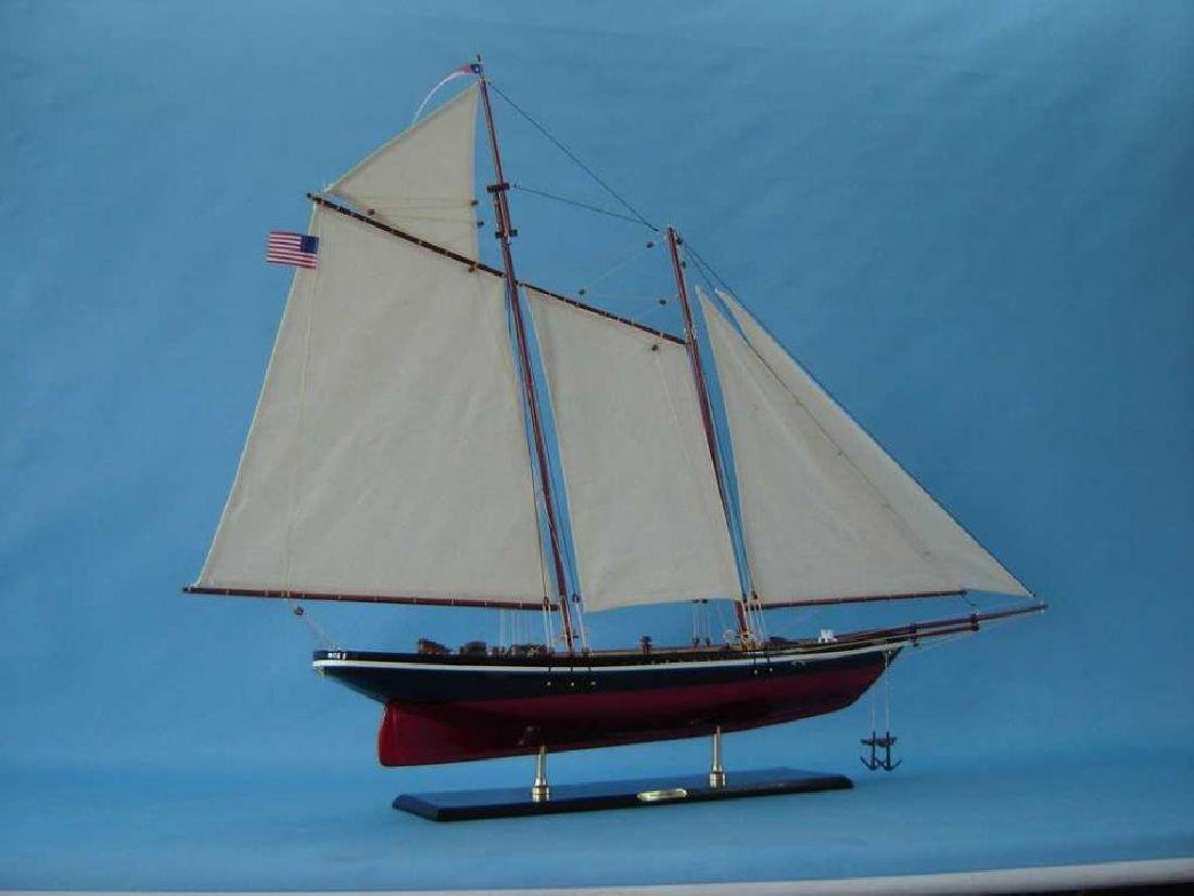 """Wooden America Model Sailboat Decoration 50"""" Limited - 6"""