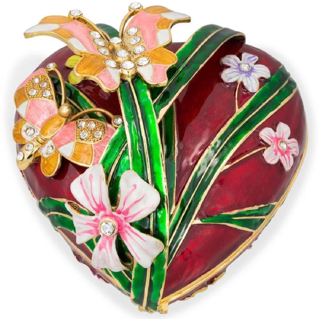 """Faberge Inspired 6.5"""" Valentine's Love Heart with - 4"""