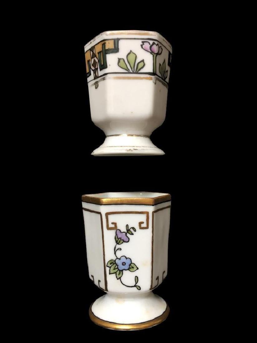 Art Deco Porcelain Toothpick Holders, Vases