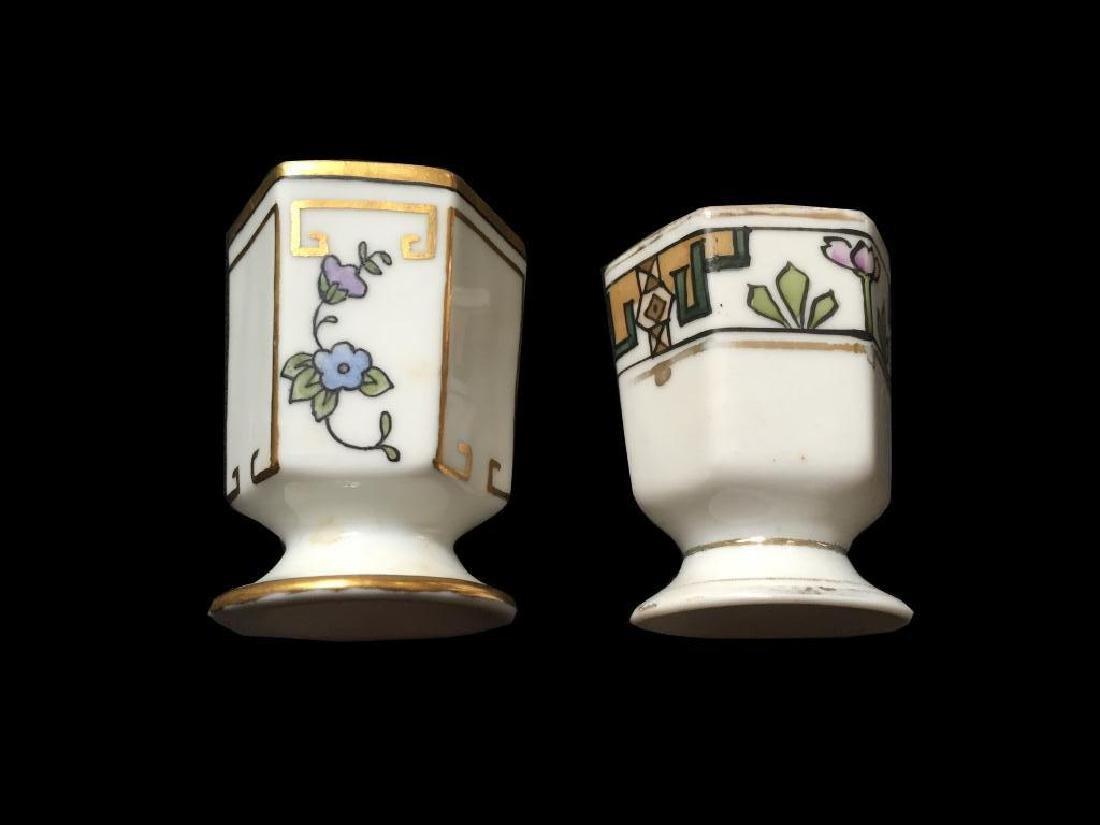 Art Deco Porcelain Toothpick Holders, Vases - 2