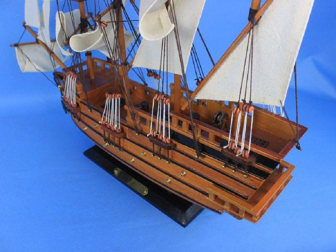 "Wooden Spanish Galleon Tall Model Ship 20"" - 12"