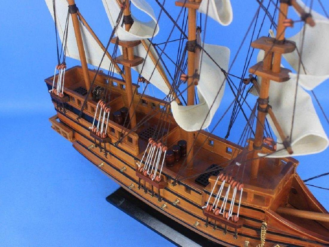 "Wooden Spanish Galleon Tall Model Ship 20"" - 2"