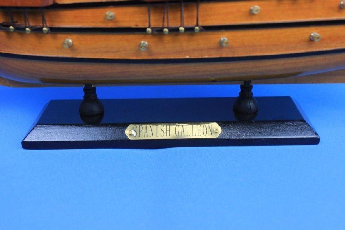 "Wooden Spanish Galleon Tall Model Ship 20"" - 5"