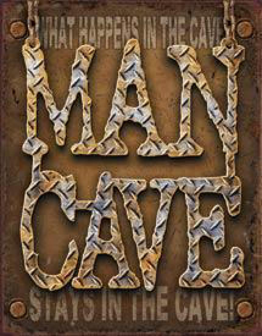 Man Cave Decorative Metal Sign