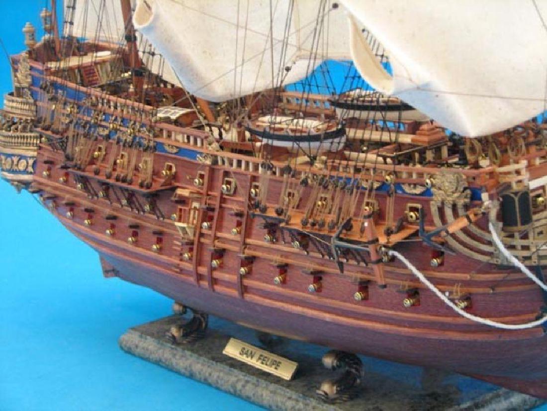 "San Felipe Limited Tall Model Ship 38"" - 4"