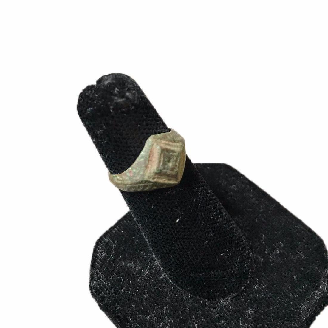 300-400 AD Ancient Roman Bronze Ring - 2
