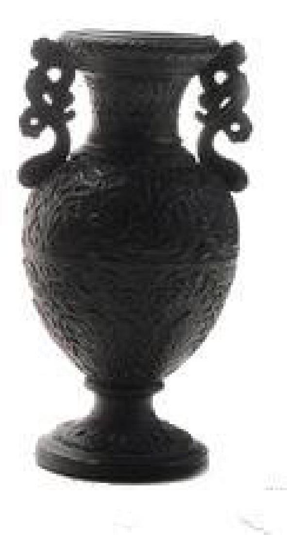 19thc Classical Black Ceramic Vase