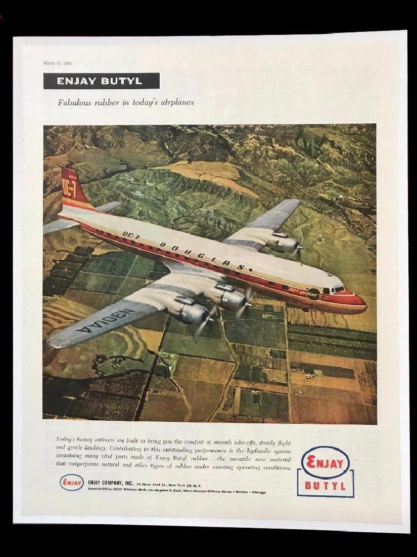 1956 Rubber Company, Enjay Butyl, Douglas DC-7 Airplane
