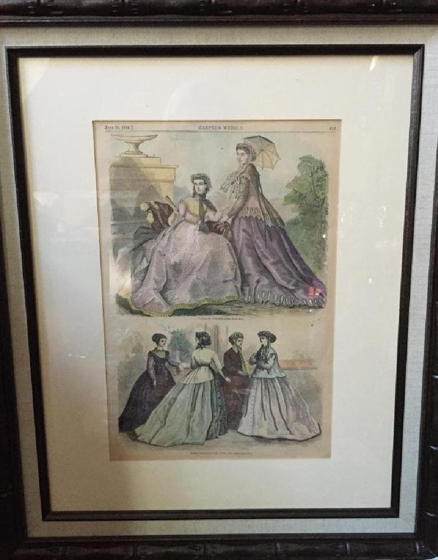 1866 Hand-colored Engraving, Paris Fashions