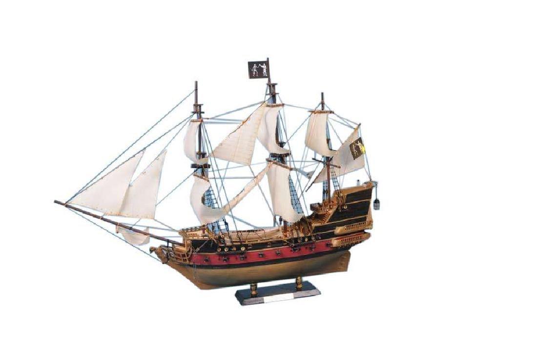 "Black Bart's Royal Fortune Model Pirate Ship 36"" -"