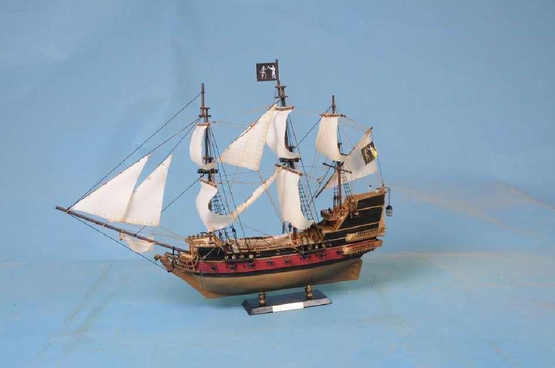 "Black Bart's Royal Fortune Model Pirate Ship 36"" - - 4"