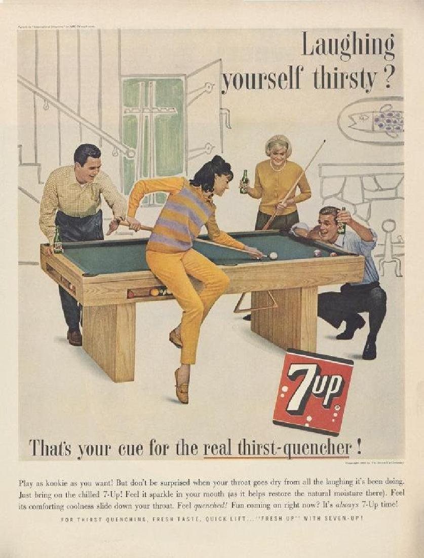 1963 7-Up Soft Drink Soda Advertisement