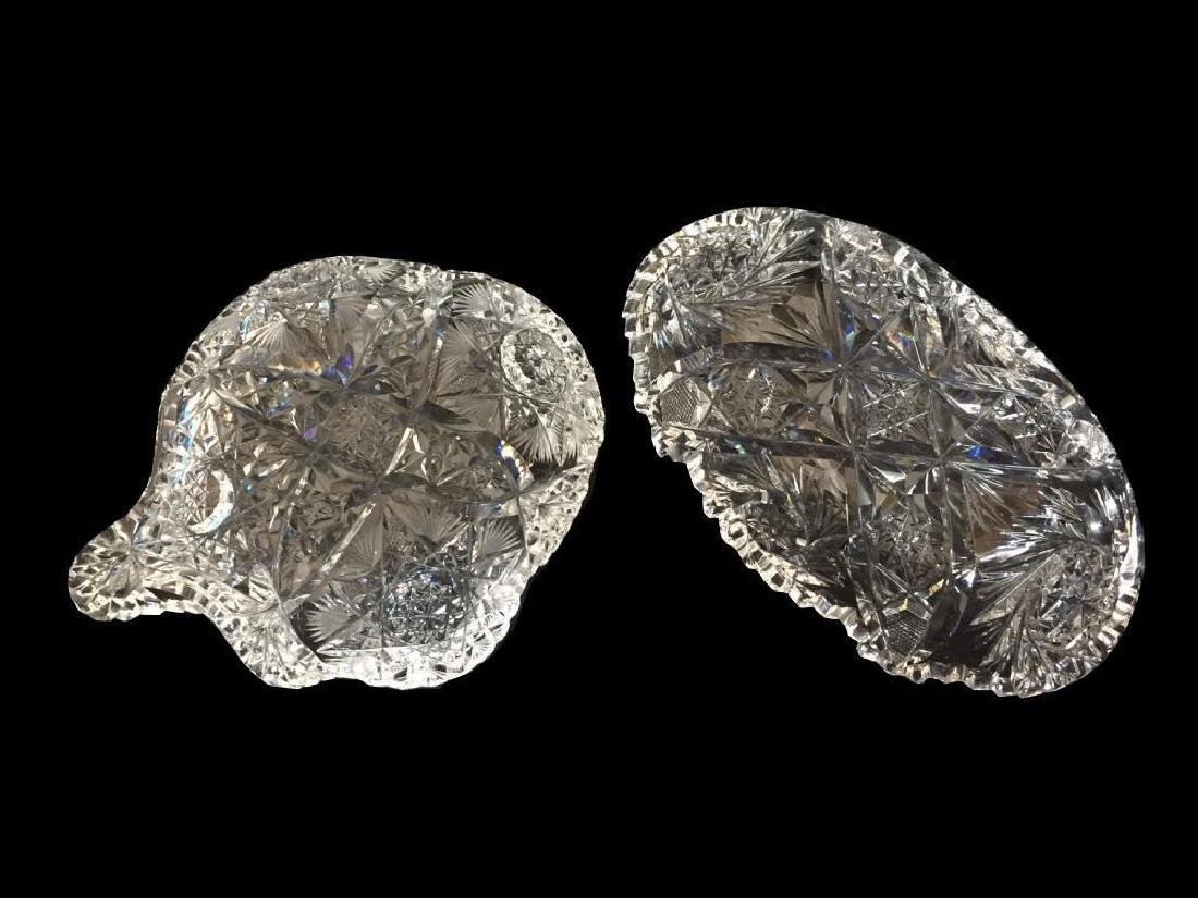 American Brilliant Cut Glass Dish Set - 3