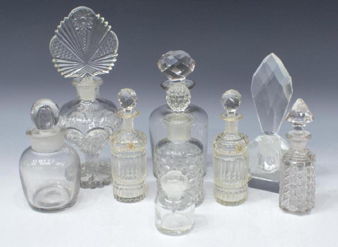 (9) Collection Of Glass Perfume Scent Bottles