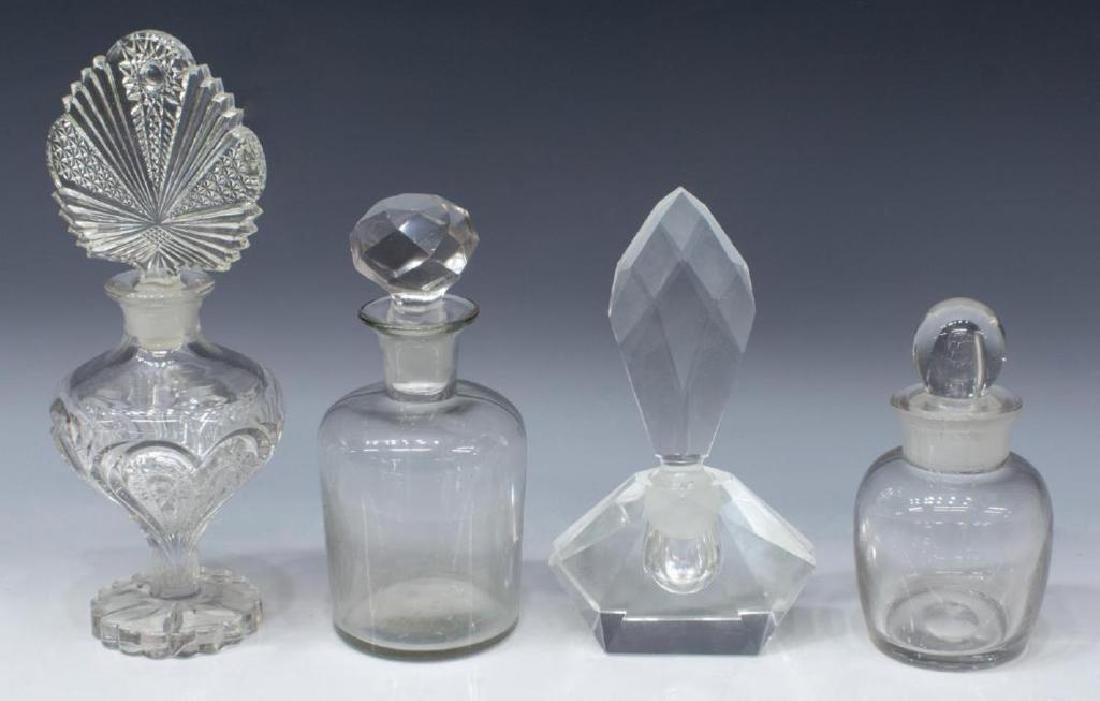 (9) Collection Of Glass Perfume Scent Bottles - 2