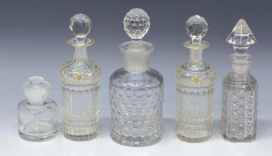 (9) Collection Of Glass Perfume Scent Bottles - 3